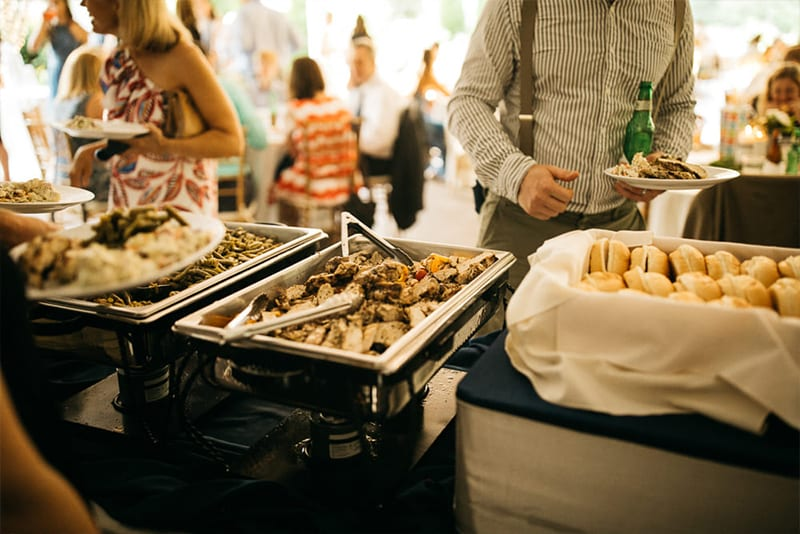 Corporate lunch buffet catering menu