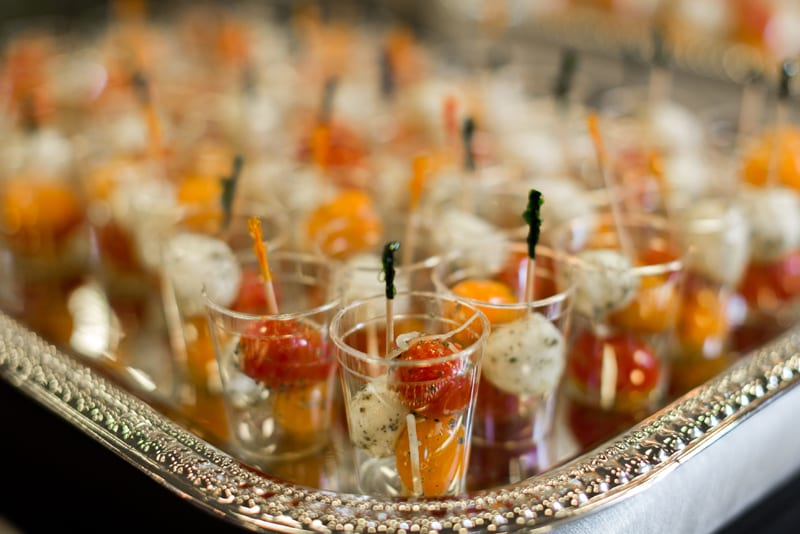 Off-site hors d'oeuvres catering menu