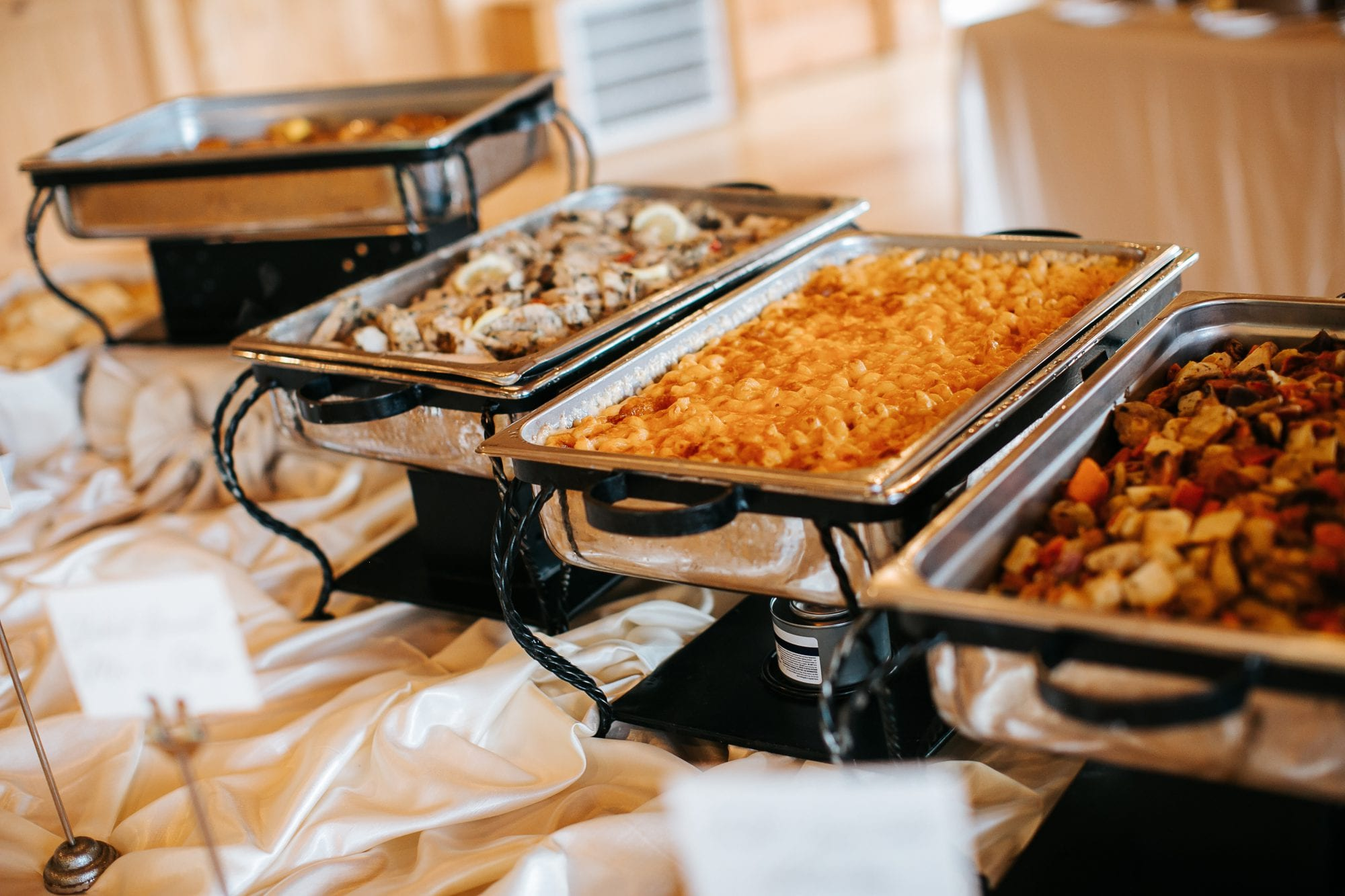 Off-site wedding reception catering menu